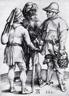 Photograph-Three Peasants in Conversation, c. Creator: Albrecht Dürer (German, Photo Print expertly made in the USA Albrecht Durer, Robert Campin, Hans Baldung Grien, Medieval Peasant, Medieval Town, Renaissance Kunst, Harvard Art Museum, Landsknecht, Art Database