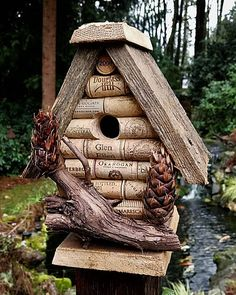 Hey, I found this really awesome Etsy listing at https://www.etsy.com/listing/589827409/wine-cork-birdhouse-grapevine