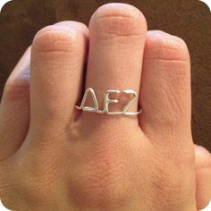 For the littles! Custom Greek Letters Ring see description for by MarieKDesigns, $10.00