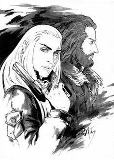 Thorin and Thranduil - ModernAU by Candra