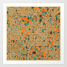 Las Vegas Art Print by Jazzberry Blue - $19.00