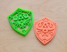 Zelda Link Shield Cookie Cutter by CookieCutters4U on Etsy