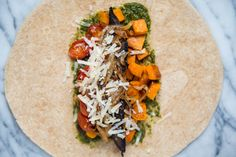 Recipe: Roasted Sweet Potato Wraps with Caramelized Onions and Pesto — Lunch Recipes from The Kitchn