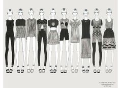 Fashion Portfolio - fashion design collection lineup; fashion illustration; fashion sketchbook // Soyeon Hwang