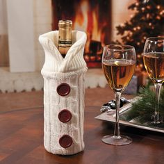 sweater bottle bag terrysvillagecom super cute christmas gift idea to go with