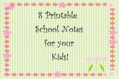 Lou Lou girls : Printable School Notes for Your Kids! Confidence Boosters, School Notes, Printables, Teaching, Kids Notes, Fun, Girls, Tuesday, Crafts