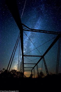 Sky watcher David Downs caught this Perseid meteor at Fort Griffin Ghost Town in Texas under an old steel bridge, August 10, 2013 | Space.com