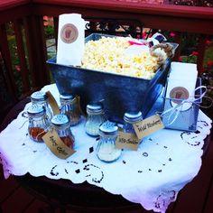 Popcorn Bar at Engagement party