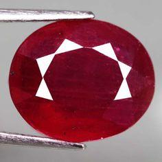 7.05 Ct. Interesting! Natural Ruby Oval Facet Top Blood Red Madagascar #Gemnatural