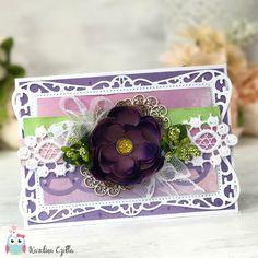 Kartka w odcieniach fioletu, #cardmaking #scrapbooking #handmadecards