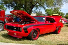 Hot red '69 Camaro