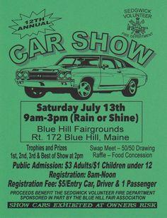 12th Annual Car Show | July 13th | Blue Hill, Maine