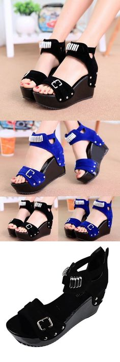 Women zipper ankle strap summer sandals pumps mid heels platform wedges shoes sandals in sand traps #jordan #8 #sandals #sandals #4 #u #sandals #60 #degrees #sandals #plantation