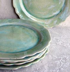 These hit the spot on 1 of my fave decor looks -  shabby chic! Pretty and blue. Adorable!