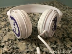 Personalized Horse and Horseshoe Headphones made with Adhesive Vinyl and Cutting Machine