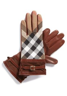 Pretty Burberry Checkered Leather Gloves http://rstyle.me/n/tstyebh9c7