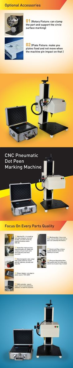 Advanced Quality CNC Pneumatic Pin Marking Machine For Nameplate Engraving,Number Plate Mark and Other Metal Parts surface work
