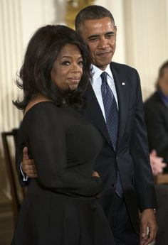 Pin for Later: President Obama's A-List Acquaintances  Barack Obama was on hand to present his pal Oprah Winfrey with the Presidential Medal of Freedom in November 2013.