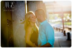Old City Philadelphia, PA Engagement Photography | Romantic Engagement Session Pose