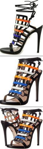 'Beyond' Cage Leather Slingback Heel Gladiator Sandals - DESIGNER INSPIRED FASHIONS