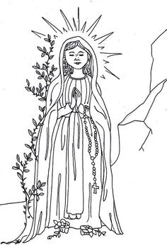 Our lady of lourdes coloring page printable coloring for Our lady of lourdes coloring page