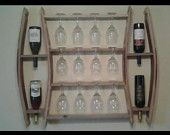 Items similar to Wall Mount Wine Rack on Etsy