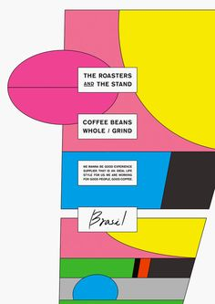 Poster for 'The Roasters and the Stand' Coffee Beans by ㎡ [emuni], Japan.