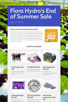 Flora Hydro's End of Summer Sale