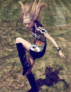 "Vogue Latin America June 2010. ""Aires Calidos"" Model: Tanya Dziahileva. Photographer: David Roemer."