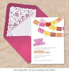 papel picado wedding invitation  printable file  by idoityourself, $32.00