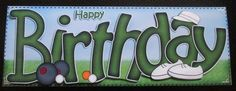 Card Gallery - BIRTHDAY Bowls Large DL Sports Quick Card n 3D decoupage