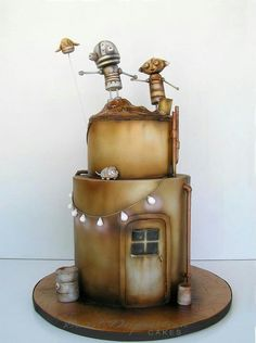 Robot Cake (not my style exactly, but it's cute and touching and a little sad (emotion's portrayed there, like an art piece), which I would love to emulate and make a part of my decorating style in the future)