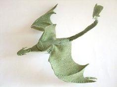 Plush Poseable Dragon PATTERN (PDF) by cathleen