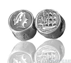 sacred-nz-coin-bead Kiwiana, All Brands, Coins, Charmed, Personalized Items, Sterling Silver, Beads, Design, Beading
