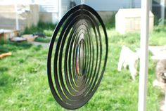 Wind Spinner Handmade Vinyl Record Art by NotByLaser on Etsy, $55.00