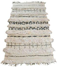 US $650.00  Moroccan Wedding Blanket VINTAGE Handira - Cream Wool, Sequins, BEAUTIFUL!!