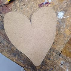 Experimenting at cutting shapes out of wood this was my love heart