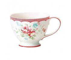 "GreenGate Teetasse ""Teacup Abelone white"""