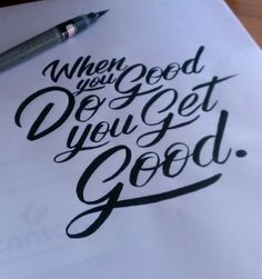 Quick Hand Lettering Without The Long Editing Hand Lettering Alphabet, Hand Lettering Quotes, Cool Lettering, Types Of Lettering, Brush Lettering, Lettering Design, Brush Script, Script Lettering, Calligraphy Handwriting