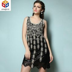 Summer Allover Sequined Embroidery Vestido Mini Dress Perfect For A Great  Gatsb Party Sleeveless Vintage Tank Dress 89071 56eea3bfe031