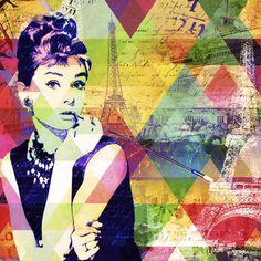 Audrey Hepburn - Pop Art Collage