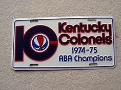 1975-ABA-CHAMPION-KENTUCKY-COLONELS-BASKETBALL-LICENSE-PLATE