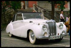 White Daimler Vintage Car  SealingsandExpungements.com 888-9-EXPUNGE Free Evaluations--Easy Payments