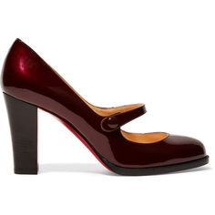 Christian Louboutin Top Street 85 patent-leather Mary Jane pumps (2.320 BRL) ❤ liked on Polyvore featuring shoes, pumps, merlot, mary jane shoes, patent leather mary janes, high heeled footwear, patent pumps and patent leather mary jane pump