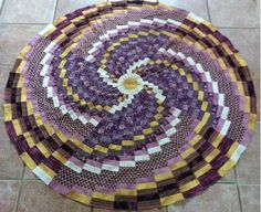 Bargello in the Round, Wedge Ruler spiral Started a looooooong time ago, needs borders.