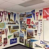 Two things... 1st, a great high school classroom decoration idea with the college pennants and posters; 2nd, a great project - donate if you can! Pin this DonorsChoose.org teacher page on your pinboard (Yes, it's my husbands classroom! I may be biased!)