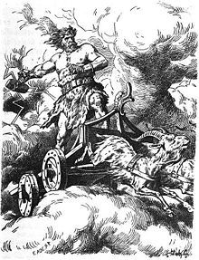 """In Norse mythology, the megingjörð (Old Norse """"power-belt""""[1] ) is a magic belt worn by the god Thor. According to the Prose Edda, the belt is one of Thor's three main possessions, along with the hammer Mjölnir and the iron gloves Járngreipr. When worn, the belt is described as doubling Thor's already prodigious strength"""