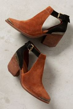 Jeffrey Campbell Woodruff Cutout Ankle Booties | Anthropologie