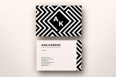 Geometrical Maze Business Card Temp. by Nova Donna on Creative Market