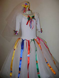 Resultado de imagem para Vestido Infantil De Festa Junina